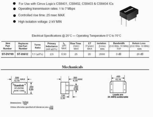 DV709 DV-709 Digital Audio Data Transmission IC