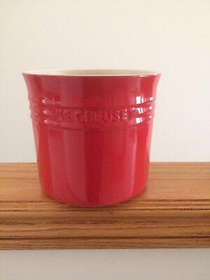 Le Creuset Large Utensil Crock Holder Stoneware Flame Red
