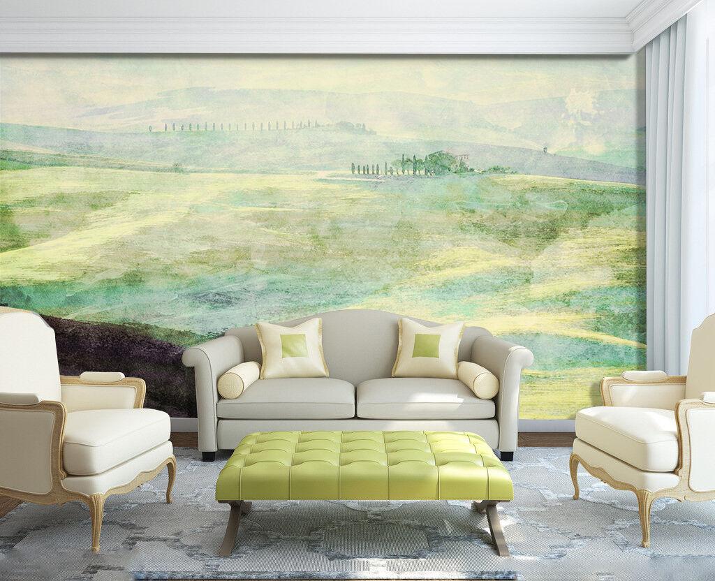 3D green Collina..Parete Murale Foto Carta da parati immagine sfondo muro stampa