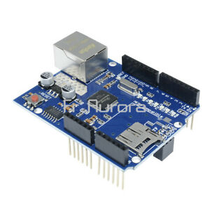 W5100 Ethernet Shield Board Module Micro SD Arduino UNO R3 ATMega 328 1280 2560