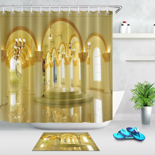 "Palace Columns Scene 72x72/"" Bathroom Decor Waterpoof Fabric Shower Curtain Liner"