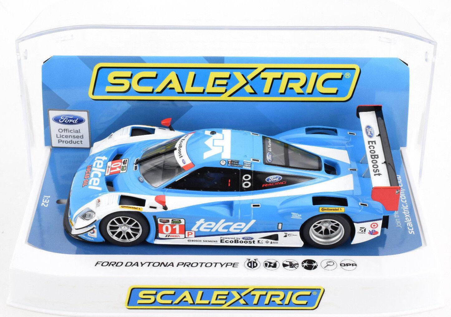 Scalextric  Telcel  Ford Daytona Predotype DPR W  Lights 1 32 Slot Car C3948