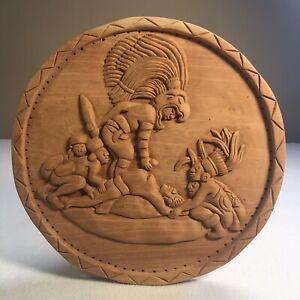 Hand Carved Inca Aztec Mayan Human Sacrifice Scene Signed ...