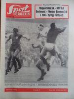 SPORT MAGAZIN KICKER 32B - 8.8. 1963 Pokal Wuppertal-HSV 0:1 Dortmund-Bremen 2:0