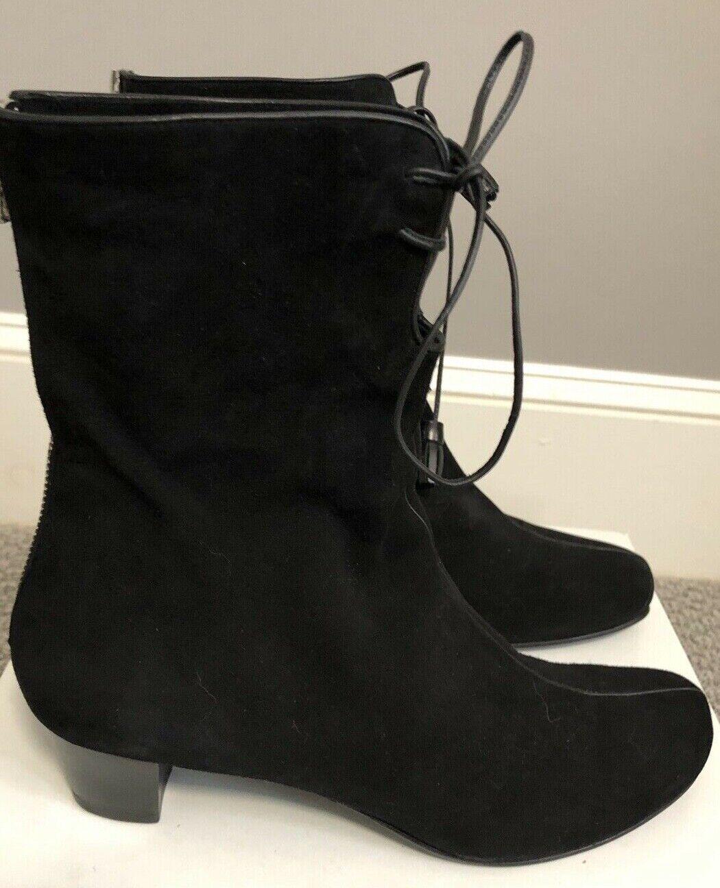ultimi stili nero Suede Tassel stivali stivali stivali by Stefi Talman sz 38.5  US 8 made in   offerta speciale