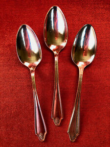 COMMUNITY PLATE GEORGIAN set of 3 LUNCHEON FORKS EXCELLENT!