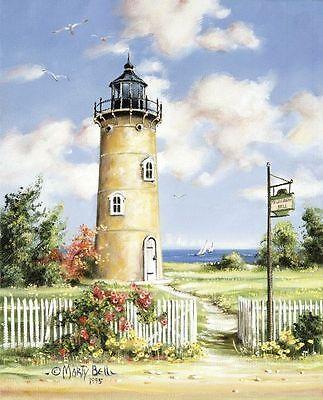 Chart Counted Cross Stitch Patterns Needlework DIY Lighthouse at Sunset
