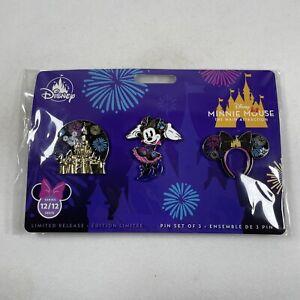 Disney Store Minnie Mouse Main Attraction Castle Fireworks Dec 12/12 Pin Set