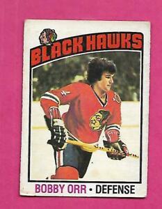 1976-77 OPC # 213 HAWKS BOBBY ORR VG CARD (INV# D7873)