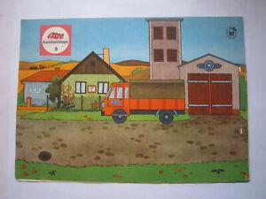 DDR Bilderbogen ATZE Pferdebespannte Dampfspritze 1897 JW Feuerwehr 1978 Neu