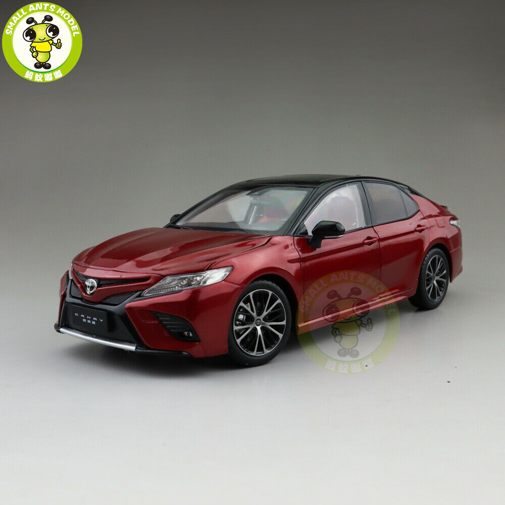 1 18 Toyota Camry 2018 Sport 8th generation Diecast Car Model Toys kids Red