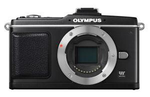 Olympus-PEN-E-P2-Schwarz-Nur-Gehaeuse-Inkl-VF-2-Sucher