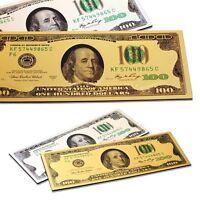 Golden $100 Dollar Bill Message Board Fridge Magnet One Hundred Dollar Magnet