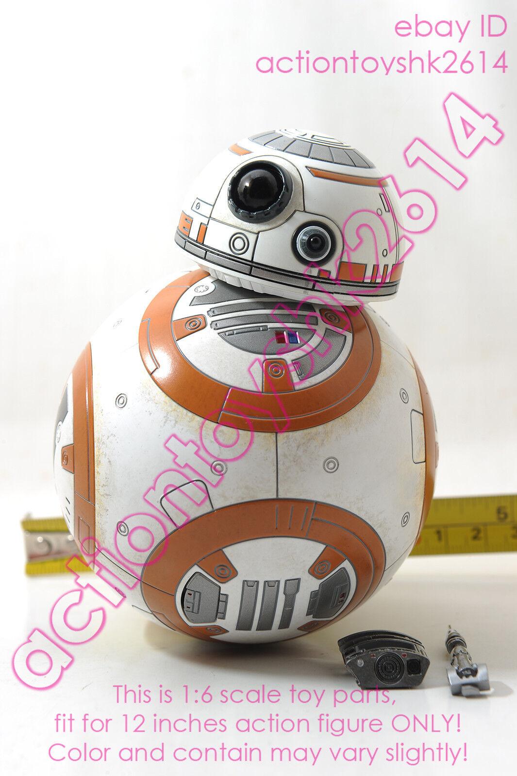 1 6 Scale Hot Toys MMS337 Star Wars Force Awakens  Rey  -  BB-8 Set