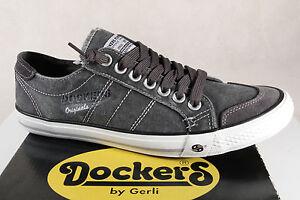 Sneakers Grigio Uomo Dockers Tessile Pantofola Ginnastica Da Scarpe Nuovo ZXOwq7