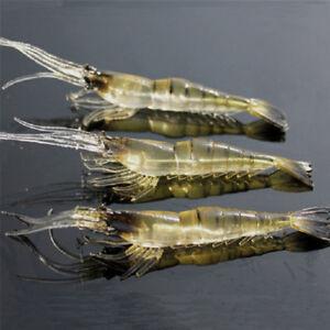 10x Fishing Lure Bait Shrimp Fishing Simulation Prawn Saltwater Hooks Fish Nice