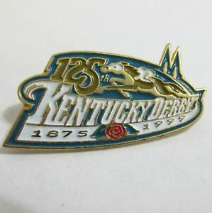 125th Kentucky Derby 1999 Souvenir Enamel Lapel Hat Pin Racing Horse Sports