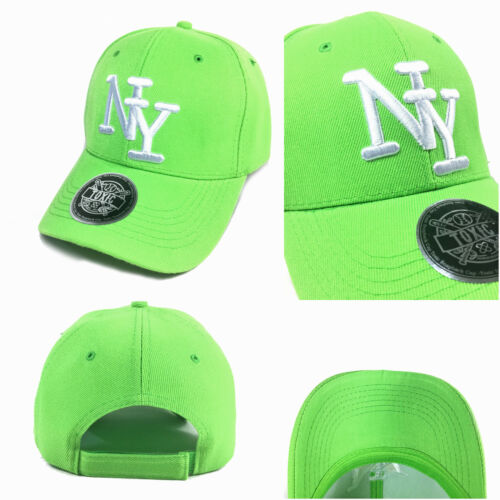 NY Baseball Cap Kappe Base Caps curved gebogener Schirm TOXIC Basecap grün