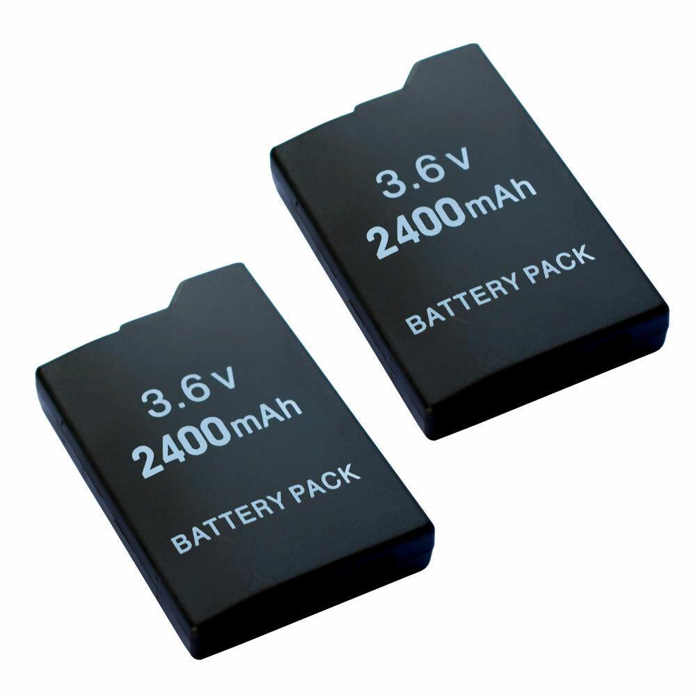 2 pack 2400mAh Rechargeable Battery for Sony PSP 2000/2001/2003/2004 Slim/Lite