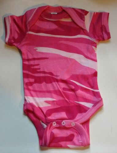 all sizes NWOT Code Five Pink Camo Short Sleeve Infant Baby Bodysuit