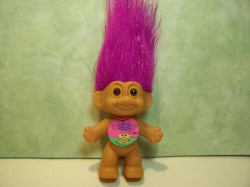"NEW w//OUT ORIGINAL WRAPPER GOOD LUCK //BINGO SPARKLE TROLL 3/"" Russ Troll Doll"