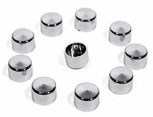 Screws-Covers-1-4-034-Chrome-9mm-For-Harley-Davidson-Engine-Gearbox-Bolt-Cover