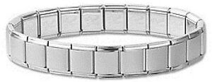 Mens-Stainless-Steel-Italian-Charm-Bracelets-Silver-13-mm-Free-Shipping-New-Gift