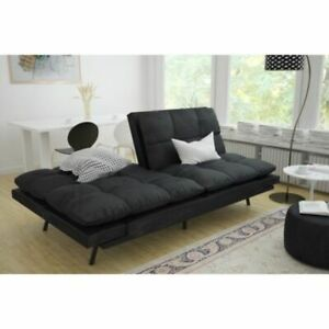Excellent Details About Leather Futon Couch Sleeper Sofa Loveseat Convertible Sectional Bed Chair Black Camellatalisay Diy Chair Ideas Camellatalisaycom