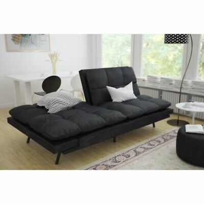 Stupendous Leather Futon Couch Sleeper Sofa Loveseat Convertible Sectional Bed Chair Black Ebay Squirreltailoven Fun Painted Chair Ideas Images Squirreltailovenorg