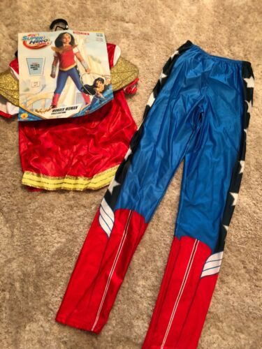 NEW girls HALLOWEEN FULL COSTUME dc super heros WONDER WOMAN large size 12-14