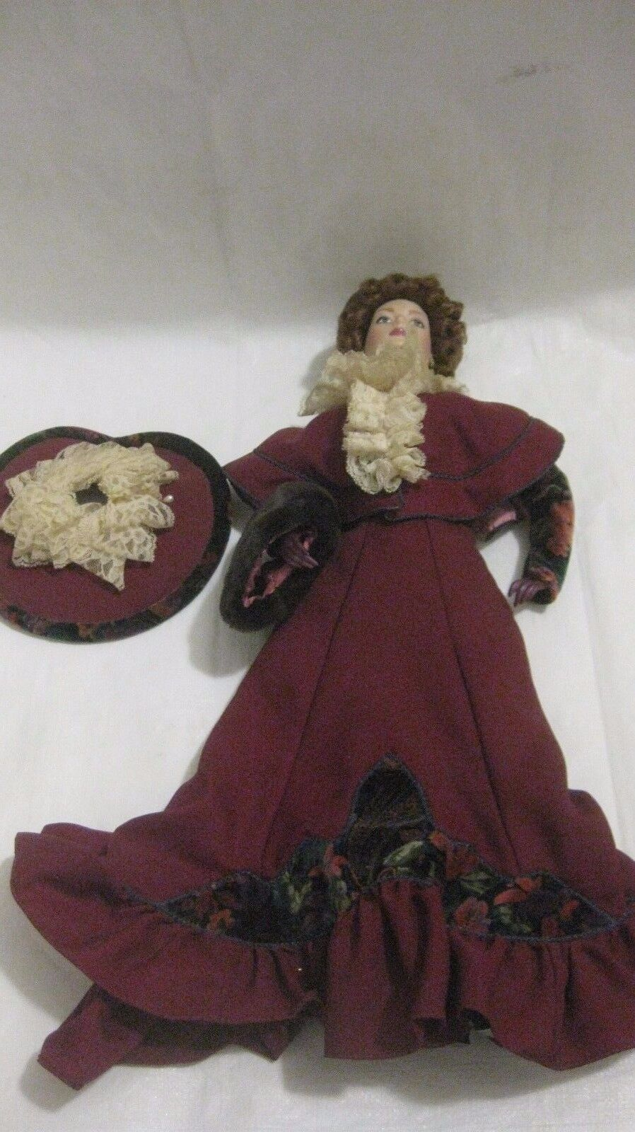 Raro Edizione Limitata Vittoriano Cameo Porcellana Bambola Collezione da Gorham