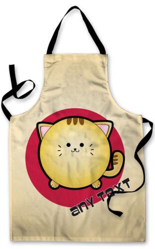 Personalised Kids Splashproof Cartoon Cat Apron Baking Painting Children/'s