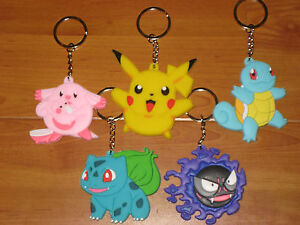 LOT-OF-5-POKEMON-KEY-CHAINS-2-5-TALL