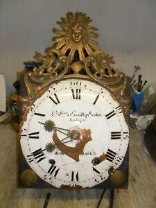 mouvement-comtoise-18-em-fronton-soleil-dans-son-jus-horloge-pendule-mecanisme
