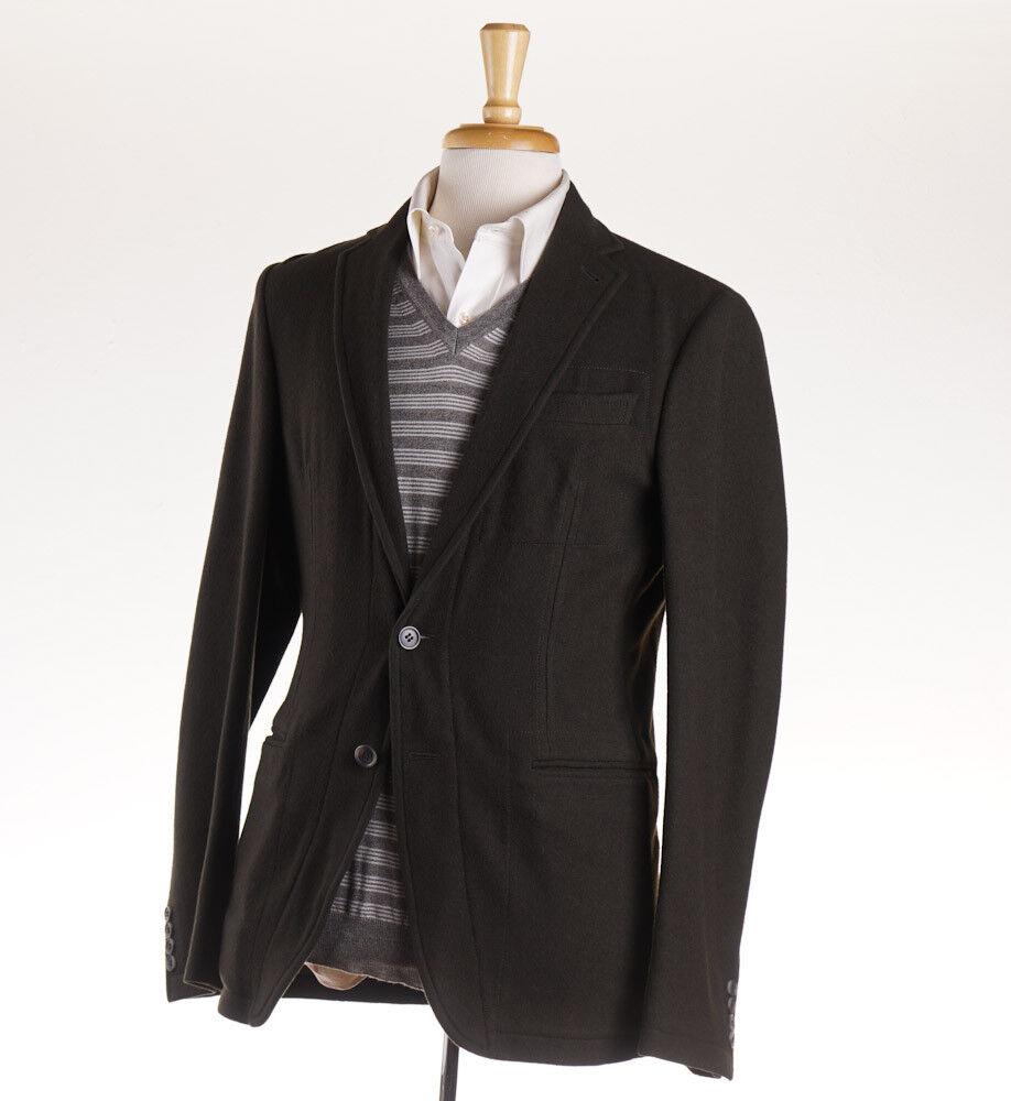 NWT  ARMANI COLLEZIONI Unstructured Olive Green Flannel Wool Sport Coat 40 R