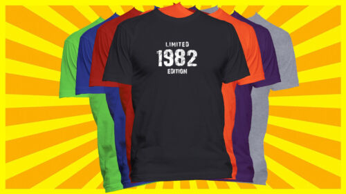 Born in 1982 T-Shirt Made in 1982 Year Born Shirt Limited Edition Year