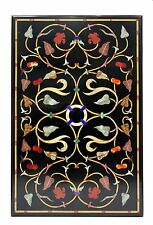 MARBLE DINING COFFEE SIDE CORNER CENTER  4'X2.5' TABLE TOP MOSAIC  INLAY WORK