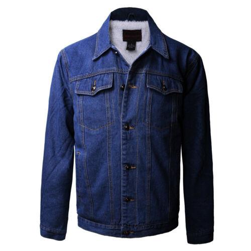 Junior Kids Boy/'s Premium Button Up Denim Fur Lined Trucker Sherpa Jean Jacket