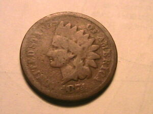 1874-Indian-Head-Cent-Nice-Good-G-Original-Brown-USA-1-Small-Penny-Coin