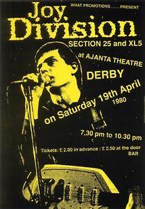 Details about Joy Division 1980 - Concert A3 VINTAGE BAND POSTERS Music  Rock Old Advert #ob