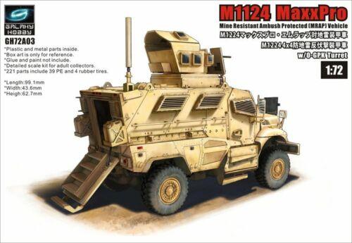 GALAXY HOBBY GH72A03 1//72 M1224 MaxxPro MRAP w//OGPK Turret
