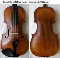 RARE OLD 1800 HOPF VIOLIN - see VIDEO - バイオリン ANTIQUE Violino скрипка 小提琴 044