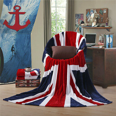 Uk Us Flag Soft Rug Bed Couch Sofa