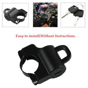 Universal Motorcycle Black Helmet Lock Fits 7//8/'/' 22mm Bar Sports Street Bike