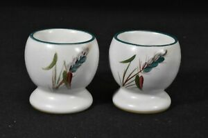 Denby-Greenwheat-Pair-of-Egg-Cups-Faults