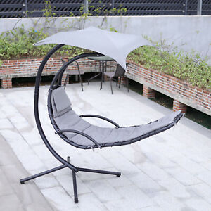 Hanging Swing Garden Chair Hammock, Outdoor Swing Chair With Stand Uk