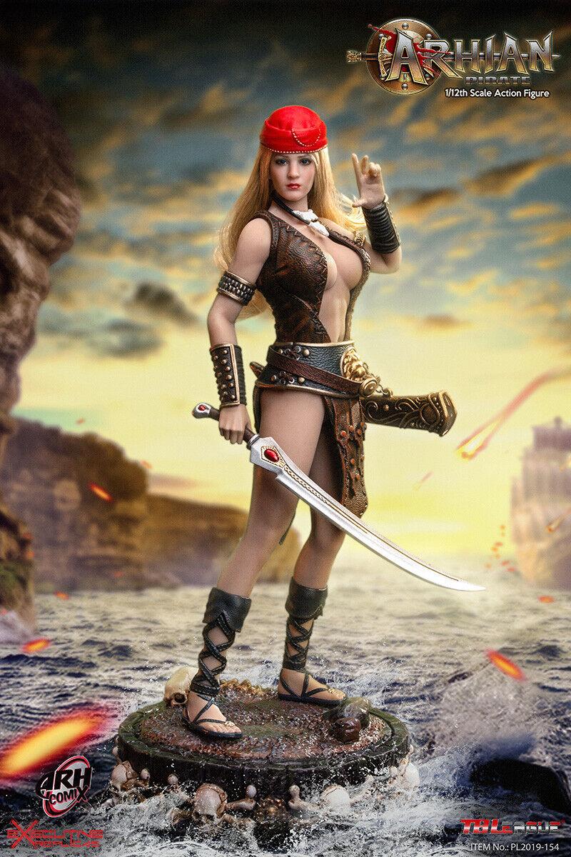 TBLeague PL2019-154 1 12 Arhian Pirate Female Set 6'' Collectible Action Figure