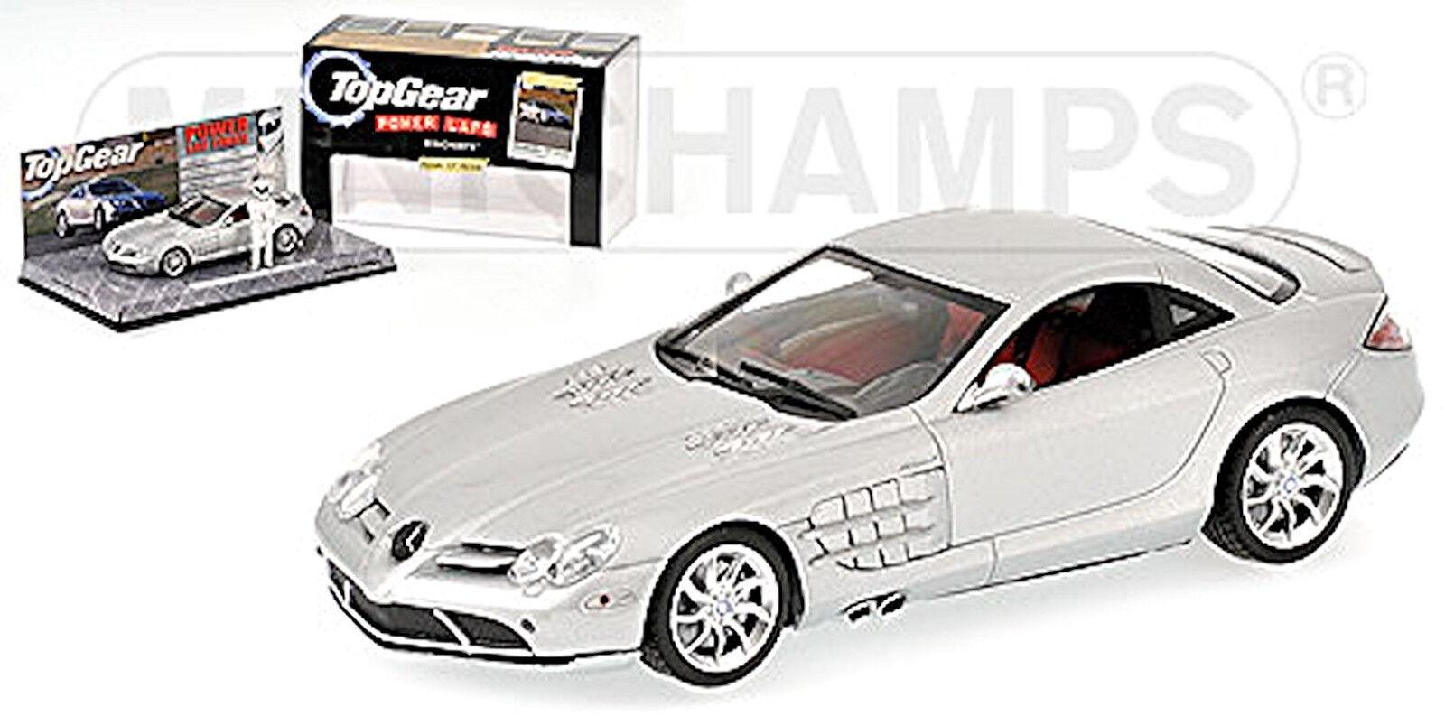 Mercedes Benz SLR McLaren 2004-09 argent métallique TopGear 1 43 Minichamps