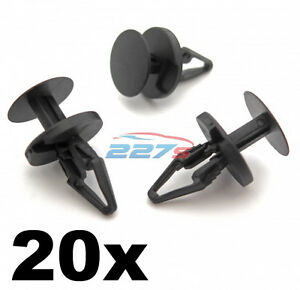 20x-Ford-Adorno-Plastico-Clips-PARACHOQUES-Clips-de-forro-de-boveda-de-rueda-de-separador-y