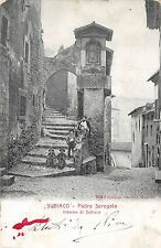 667) SUBIACO (ROMA) PIETRA SPREGATA INTERNO DI SUBIACO, ANIMATA. VIAGGIATA.